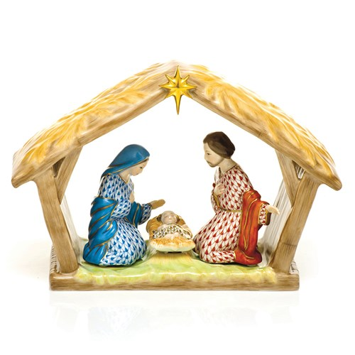 Herend Nativity Scene, Four-Piece Set