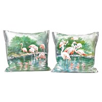 Flamingo Silk Pillows