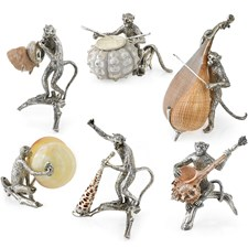 Silverplated Monkey Band with Shells