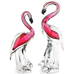 Crystal Flamingo Sculptures