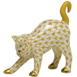 Herend Arched Cat