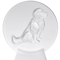 Lalique Dog Sculpture, Paperweight