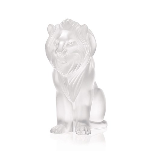 Lalique Bamara Lion Sculpture