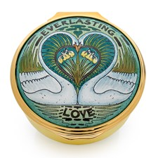 Halcyon Days Everlasting Love Enamel Round Box