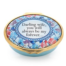 "Halcyon Days ""Darling Wife..."" Enamel Box"