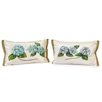 Hydrangea Silk Pillows