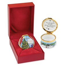 Halcyon Days Christmas 2018 Enamel Box