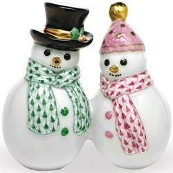 Herend Snowman Couple