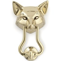 Fox Brass Door Knocker
