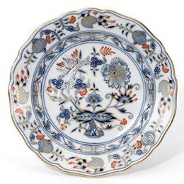 Meissen Blue Onion, Red & Gold Accents