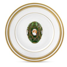 Dessert/Salad Plates and Demitasse Cups with Faberge Eggs