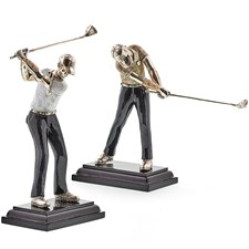 Golfers with Shells Sculpture