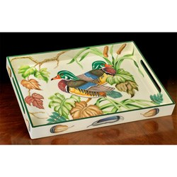 Wood Duck Lacquered Tray