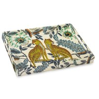 "Honeymoon Cheetahs Lacquer Tray 14"" x 20"""