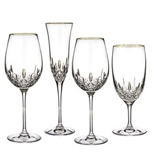 Waterford Lismore Essence Gold Glassware